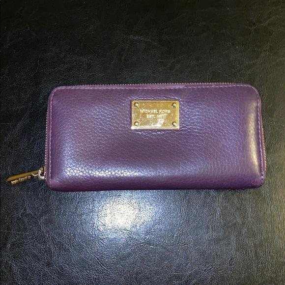 Michael Kors Accessories - Purple Michael Kors Wallet